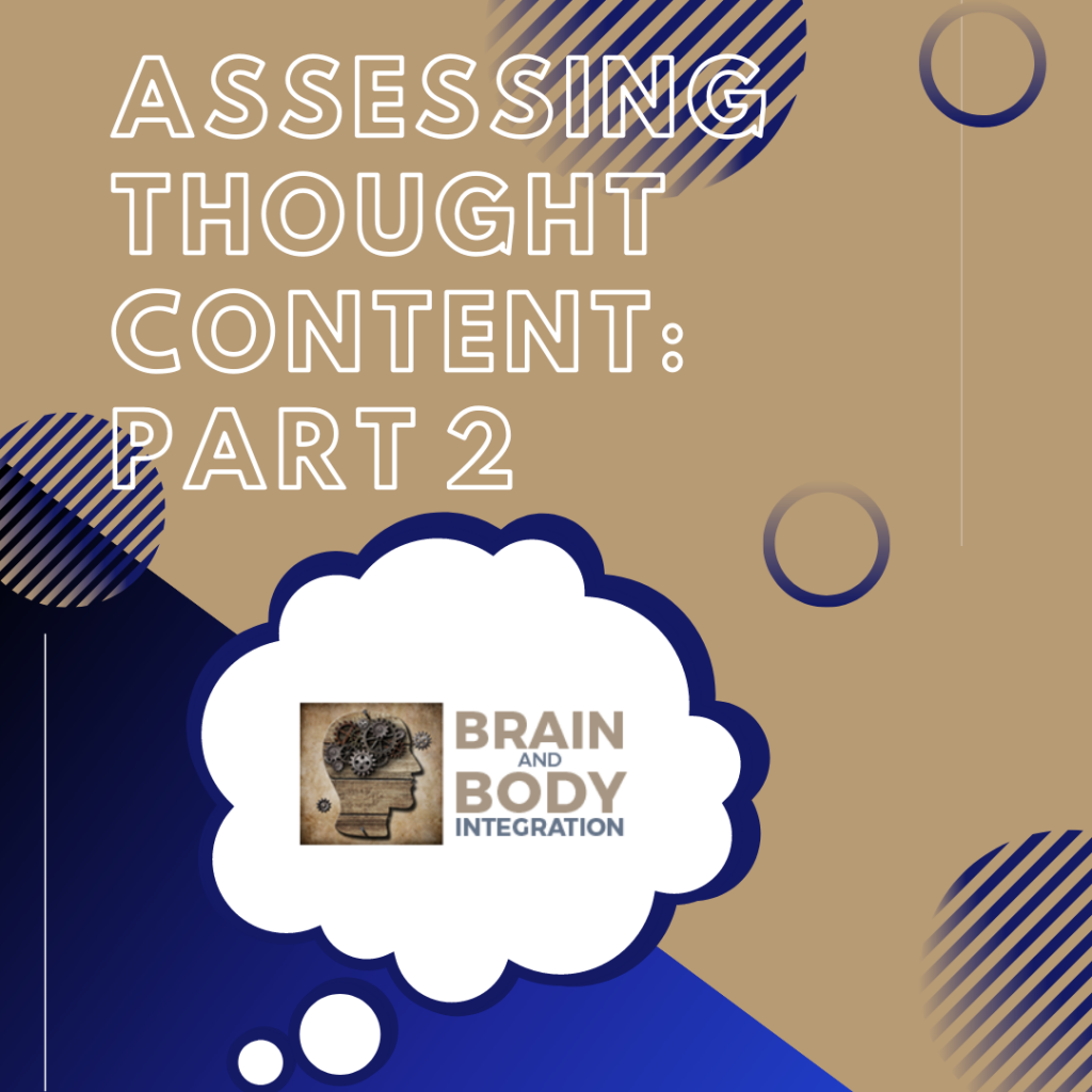 Assessing Your Mental Thoughts
